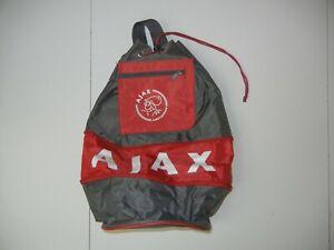AJAX AMSTERDAM Gray/Red Polyester SOCCER SHOULDER BACKPACK Football Gym Gear Bag