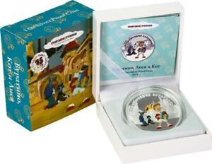 """Cook Islands 2011 $5 Soyuzmultfilm Buratino """"BURATINO"""" 1 Oz 999 Silver Coin"""