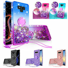 For Samsung Galaxy Note 20/10/9/8/S21/S20/S9/A12 Liquid Glitter Bling Case Cover