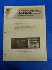 YASKAWA YASNAC MX1 CNC OPERATOR MANUAL TOE-C843-7.30C