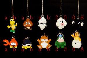 Takara Tomy Super Mario Bros Wii figure keychain gashapon (full set 10 figures)