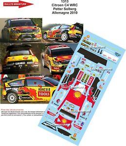 Decals 1/18 Ref 1313 Citroen C4 WRC Solberg Rally Germany Deutschland 2010