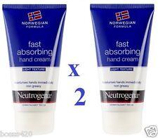 2 X Neutrogena noruego fórmula Mano Crema 75ml cada