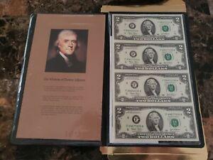 World Reserve Monetary Exchange Uncirculated & Uncut Sheet of 4 $2 Dollar Bills