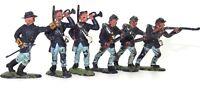 BRITAINS HERALD US CIVIL WAR - 6 X UNION SOLDIERS