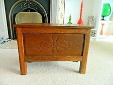 Lovely Small Vintage Wooden Chest, Blanket, Storage Box, Coffee Table