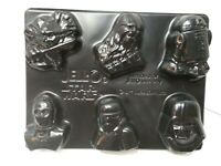 Jello Jigglers Star Wars Mold R2D2 Chewbacca CP30 Darth Shooters Makes 6 EUC
