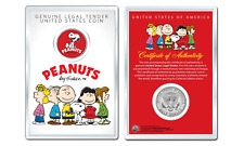 Peanuts Snoopy Laughing Official Jfk Half Dollar U.S. Coin in Premium Holder