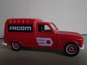 7R Rare Solido No 1325 France Renault 4 Fourgonnette Publicité Facom Rouge 1:43