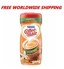 Nestle Coffee-mate Powdered Creamer Sugar Free Vanilla Caramel WORLD SHIP