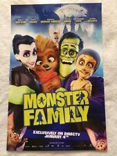 "MONSTER FAMILY - 11""x17"" Original Promo Movie Poster MINT 2017 Emily Watson Rare"