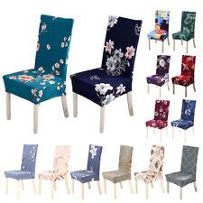 1/4/6 un. Stretch Spandex Comedor Silla Estampado Floral Cubre Cubiertas: Home