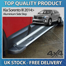 KIA SORENTO III 14+ ALUMINIUM STRIPED SHERWOOD SUV 4X4 SIDE STEP RUNNING BOARDS