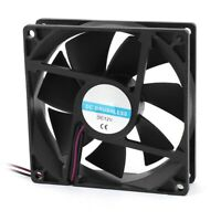 90mm x 25mm 9025 2pin 12V DC Brushless PC Case CPU Cooler Cooling Fan F4Q1