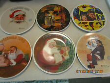 6  Knowles Norman Rockwell Plates CHRISTMAS  COLLECTION Limited Edition 1980's
