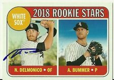 2018 Topps Heritage NICKY DELMONICO Signed Card autograph WHITE SOX