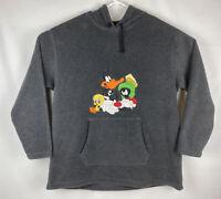 Vtg Warner Bros Men's Tweety Daffy Marvin Sylvester Looney Tunes Hoodie Sz XL