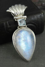 925 Sterling Silver Teardrop Moonstone Pendant / Slide