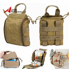 1000D Tactical MOLLE EMT Medical First Aid Pouch Utility Emergency Tools Bag Tan