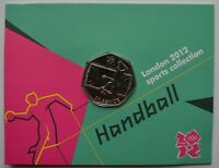2012 London Olympic Games 50p Sports Collection Uncirculated Coin Handball