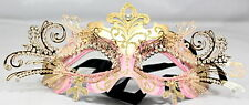 Venetian Masquerade Aqua And Silver Mask with Metal Filigree Eyes  Diamontes And