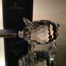 Swarovski Crystal Medium Pig CRYSTAL TAIL MIB/COA! #010031/7638 050 Retired RARE