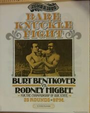 Reproduction Print of 1883 Bare Knuckle Fight