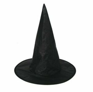 WITCHES HAT Ladies Kids Halloween Witch Fancy Dress Accessory + FREE LATEX TUBE