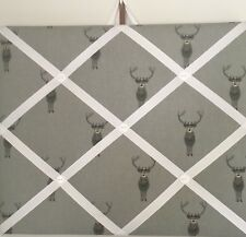 Hand Made Fabric Notice Board In Sophie Allport Stag Fabric