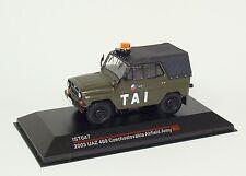 """UAZ 469 Czechoslovakia Airfield Army 2003 """" TAI """" grün green - IXO IST047 - 1:43"""