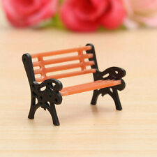Miniature Park Seat Bench Mini Garden Ornament Craft Fairy Dollhouse Decor Gift