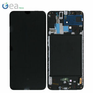 Display LCD + FRAME Originale Samsung SERVICE PACK Per Galaxy A70 SM-A705F Nero