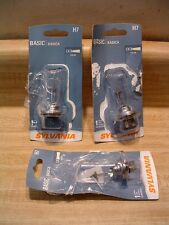 Lot of 3 New Sylvania H7 Basic Car Headlight Bulbs