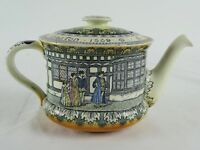 Antique Royal Doulton Moreton Hall Teapot Visit of Elizabeth 1589 England c1920s