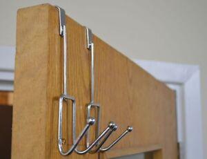 Brand New 2PK Over The Door Iron Metal Hook Clothes Multipurpose Hanging Hangers