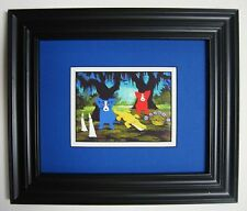 "GEORGE RODRIGUE ""Who Will She Be Today?"" POSTCARD - FRAMED - 13.25"" x 11.25"""