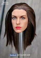 1/6 CUSTOM REHAIR REPAINT Anne Hathaway hot toys figure head sculpt catwoman