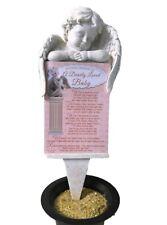 Grave Card Baby Graveside Plaque Holder Stake Ornament Statue Angel Memorial Set