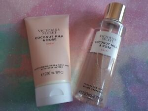 Victoria Secrets Mothers Day 💐Gift Bundle Coconut & Rose Calm Body Spray & Wash