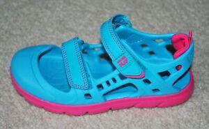 Stride Rite Girls' Made2Play Phibian Blue Hook & Loop Sandals - Size 10, 11