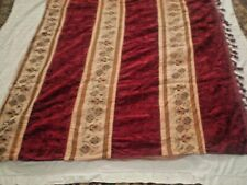 Rare Vintage Hand-Embroidered Coveriets  Tableclotn red velvet