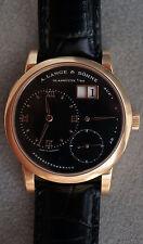 A. Lange & Sohne Lange 1 Ref 101.031 18K Rose Gold Black Dial Box & Papers Red