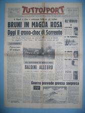 TUTTOSPORT  20/5/1960  Bruni in maglia rosa a Napoli