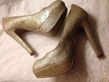 Guess Stilettos -  👠Gold Sparkle Shoes- 👠Gingerly Used 7.5