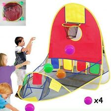 Portable  Ball Scoring Tent Children Kids Baby Basketball Pit Playhouse Game SK