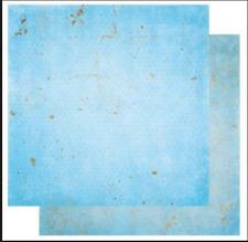 BoBunny 12x12 papel scrapbooking Doble Dot, Polvo Azul Vintage X 2 Hojas