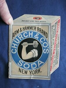 TERRIFIC Victorian Trade Card RARE Arm & Hammer Brand OPENS UP Jack Spratt 05