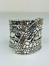 JOHN HARDY Sterling Silver Kali Pebble Cuff Bangle Bracelet