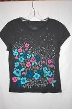New Women's Roxy Short-Sleeve T Shirt--Dark Gray with multi Size Juniors' M NWOT