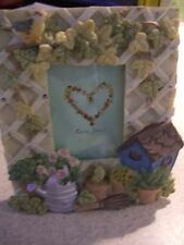 "Loving Heart Multi-color Ceramic Garden Theme  Photo Frame (6"" x 5"")"